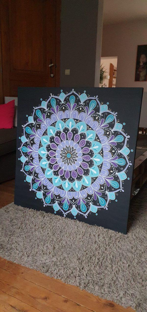 Mandala «Flora violeta»